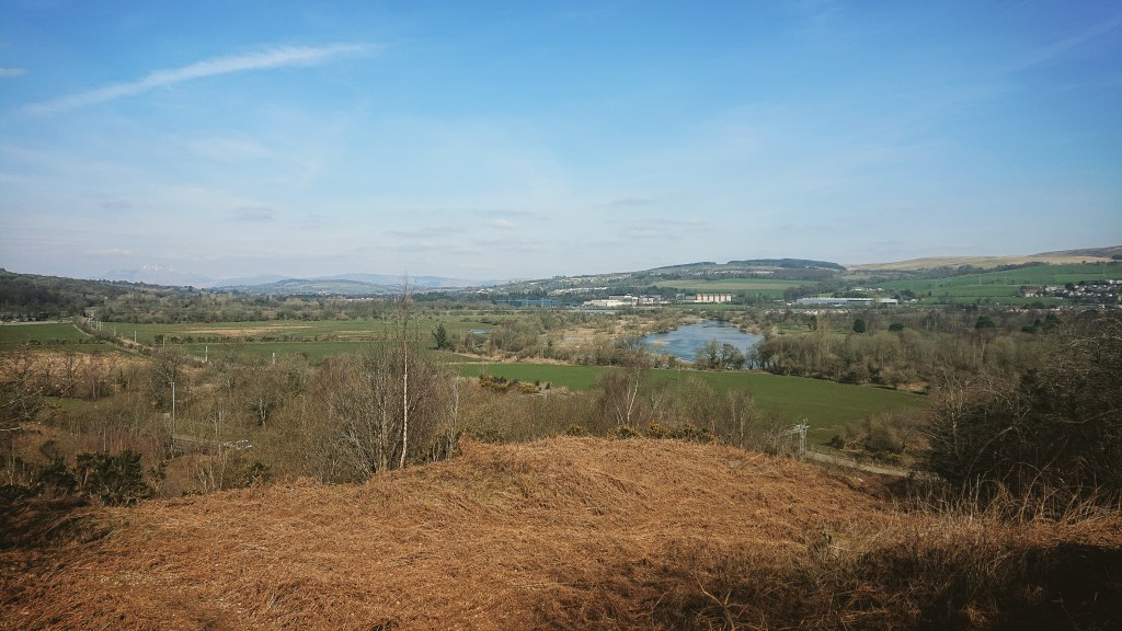 A photograph of the Vale of Leven, taken from the west of Dumbarton.